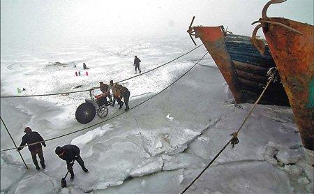 Sea ice in China 2010